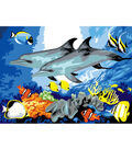 15-1/4\u0022x11-1/4\u0022 Junior Paint By Number Kit-Dolphins