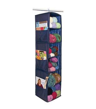 Yarn & Craft Organizer 6 Shelf 48X11X11-Navy