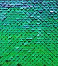 Glitterbug Reversible Sequin Fabric 31\u0027\u0027-Blue & Green