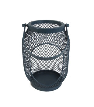 Seaport Small Metal Canister-Navy
