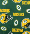 Green Bay Packers Fleece Fabric 58\u0027\u0027-Tossed