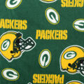 Green Bay Packers Fleece Fabric -Tossed