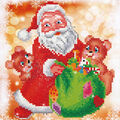 Diamond Dotz Diamond Embroidery Art Kit 11\u0027\u0027X11.75\u0027\u0027-Santa & Teddies