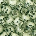 Skull Beads 250 pk-Glow In The Dark