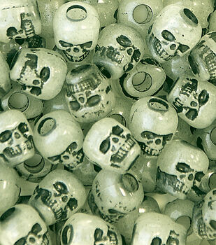 Skull Beads 250 pk-Glow In The Dark