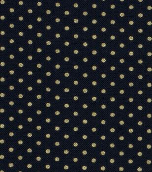 Harvest Cotton Fabric-Black Dots Metallic