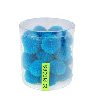 Fab Lab Yarn Pom Poms 25/Pkg-Blue
