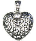 Jewelry Basics Pendant Sets-Scroll Heart 1/Pk