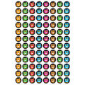 Bright Owls superSpots Stickers 800 Per Pack, 6 Packs