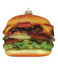 Maker\u0027s Holiday Ornament-Glass Hamburger