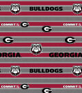 University of Georgia Bulldogs Fleece Fabric 58\u0022-Polo Stripe
