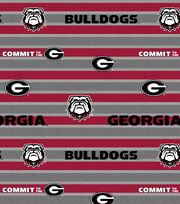 "University of Georgia Bulldogs Fleece Fabric 58""-Polo Stripe, , hi-res"