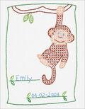 Stamped White Sampler 8\u0022X10\u0022-Monkey