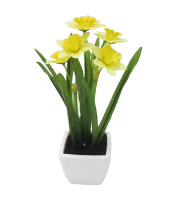 Fresh Picked Spring 10'' Narcissus in Container-Yellow