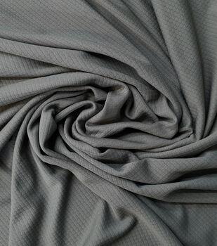 Loungeletics Performance Apparel Fabric-Charcoal Honeycomb