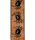Maker\u0027s Halloween Ribbon 2.5\u0027\u0027x12\u0027-Spiders on Orange