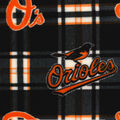 Baltimore Orioles Fleece Fabric -Plaid