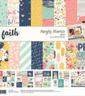 Simple Stories Collection Kit 12\u0022X12\u0022-Faith