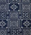 Sportswear Denim Fabric-Geometric Embroidery