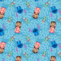 Disney Lilo and Stitch Fleece Fabric 59\u0022-Hawaiian Leaves
