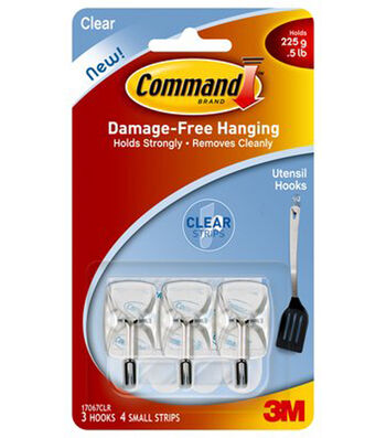 Command Small Clear Wire Hook