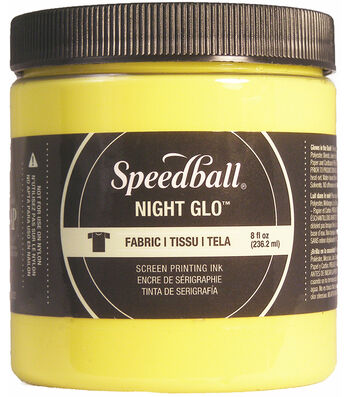 Night Glo Fabric Screen Printing Ink 8oz-Yellow