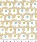 Nursery Flannel Fabric 42\u0022-Elephant Taupe