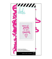 Heidi Swapp 9 pk Letterboard Words-Pink Love, , hi-res