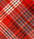 Sew Lush Fabric -Red Black Plaid