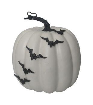 Maker's Halloween Large Fashion Pumpkin with 3D Bats