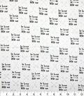 Nursery Cotton Fabric-Black & White Be Brave Little One