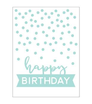 Park Lane A2 Embossing Folder-Happy Birthday & Dots