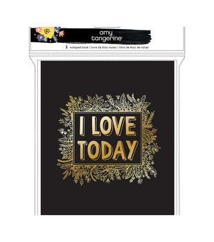 Amy Tan Shine On Notepad Book-I Love Today