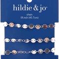 hildie & jo 18\u0022 Copper & Iron Round Flat Beads Chain-Silver