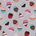 Snuggle Flannel Fabric -Cupcakes & Confetti