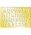 Momenta Art-C Brass Stencil-Emma Lower Case 3.9\u0022x2.6\u0022
