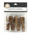Decorative Clothespins 3-1/4\u0022 12/Pkg-Jacobean