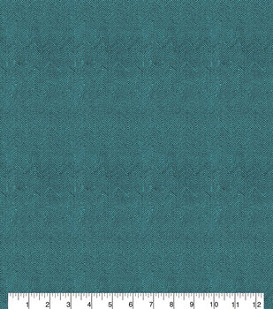 Keepsake Calico Cotton Fabric-Herringbone Teal