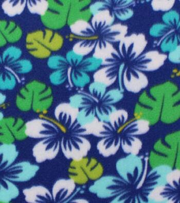 "Blizzard Fleece Fabric 59""-Summer Navy Floral"