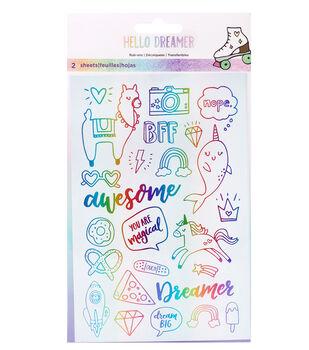 American Crafts Hello Dreamer 2 pk Rub-on Sheets