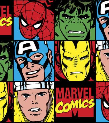"Marvel Comics Flannel Fabric 42""-Comic Patch"