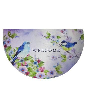 In the Garden Rubber Door Mat-Birds & Welcome