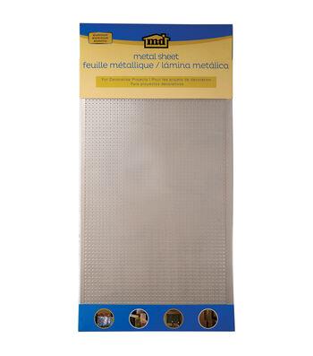 "Silver Colored Metal Sheet 12""X24""-Lincane"