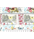 Buttercream Cosette Cotton Fabric 43\u0022-Paris Block