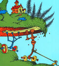 Dr. Seuss Cotton Panel Fabric 44\u0022-Oh The Places You\u0027ll Go