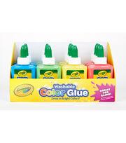 Crayola 12 pk 3 oz. Washable Color Glues, , hi-res