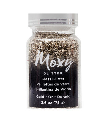 Moxy Glass Glitter 1.5oz-Gold