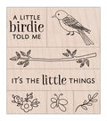 Hero Arts Wood Mounted Rubber Stamp Set-Little Birdie