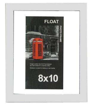 Wood Float Photo Frame 8''x10''-White