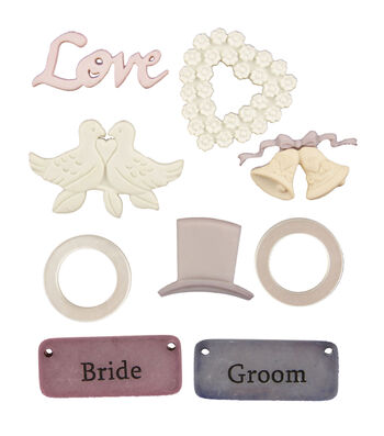 Buttons Galore Bride & Groom Buttons